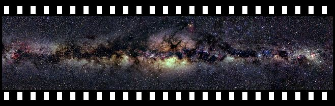 Milky Way filmstrip